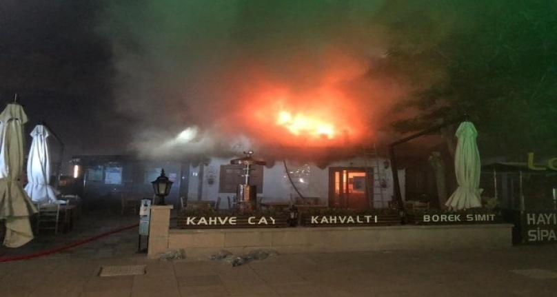 Hacı Bayram Veli Camisi'nin Avlusunda Yangın!