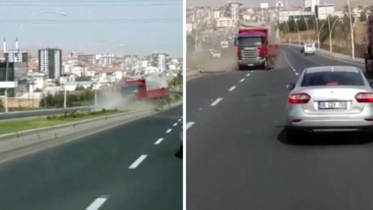 Ankara'da Faciaya Ramak Kaldı: Freni Boşalan Kamyon...