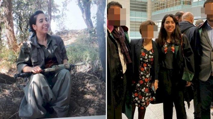 Kırmızı listedeki teröristin yanındaki kadın Diyarbakır Barosu'na kayıtlı avukat çıktı