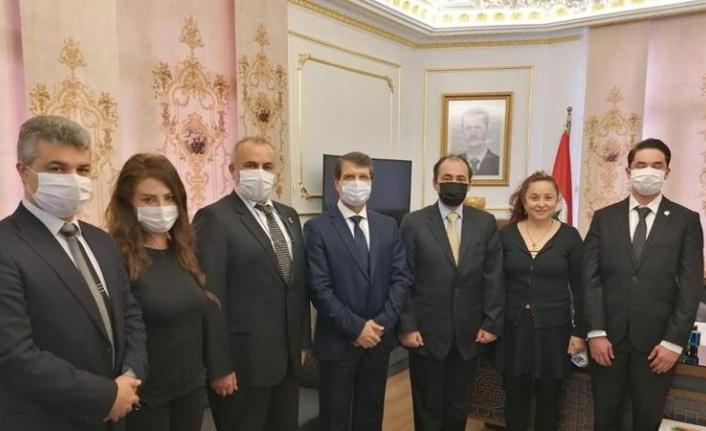 Vatan Partisi'nden Suriye'ye Taziye Ziyareti