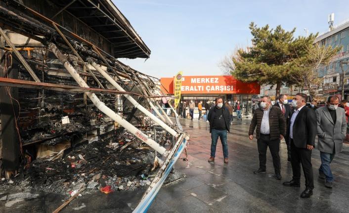 Murat Ercan'dan Dükkanları Yanan Esnafa Ziyaret