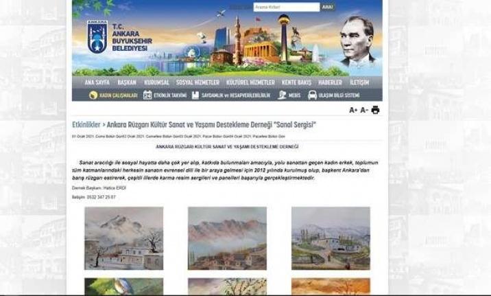 Ankara Büyükşehir Belediyesi'nden Yeni Yılda Sanal Sergi