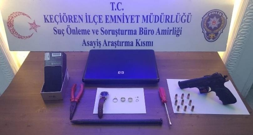 Ankara'da Yedi Farklı Evde Hırsızlık Olayının Zanlısı Yakalandı