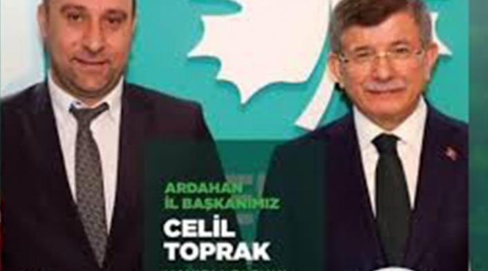 Gelecek Partisi İl Başkanı Celil Toprak Eşini Darp Ettiği için Tutuklandı!