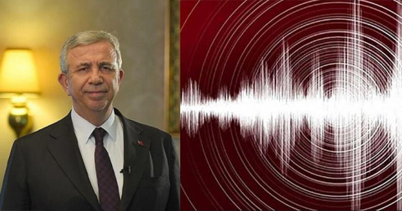 Mansur Yavaş'tan Ankara Depremi Açıklaması