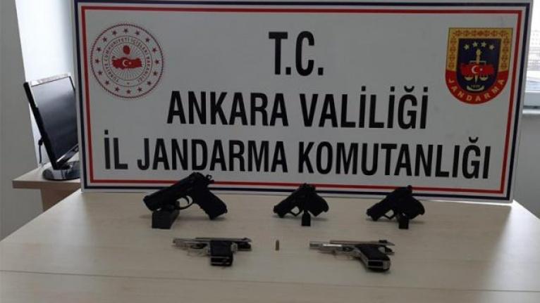 Ankara'da Kaçak Silah Ticaretine Gözaltı