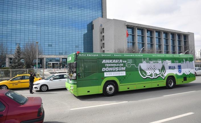 Ankara, Türkiye'nin İlk Dönüştürülmüş %100 Elektrikli Otobüsünü Üretti