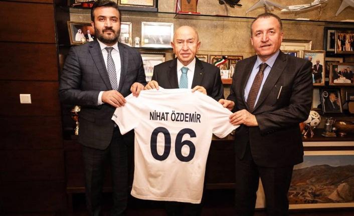 Ankaragücü Başkanı Fatih Mert'ten TFF'ye Ziyaret