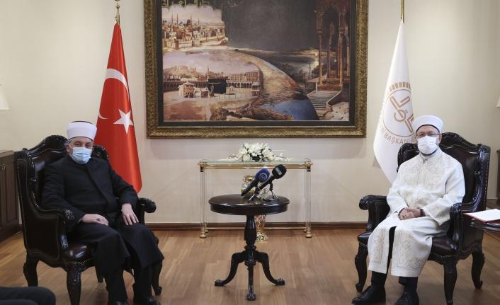 Diyanet İşleri Başkanı Erbaş, Kuzey Makedonya İslam Birliği Başkanını Kabul Etti
