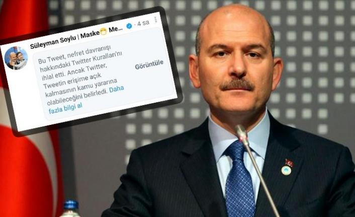 Twitter'dan Süleyman Soylu'ya Alçak Sansür!