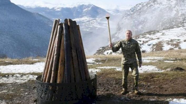 Aliyev Nevruz Ateşini İşgalden Kurtarılan Şuşa'da Yaktı!