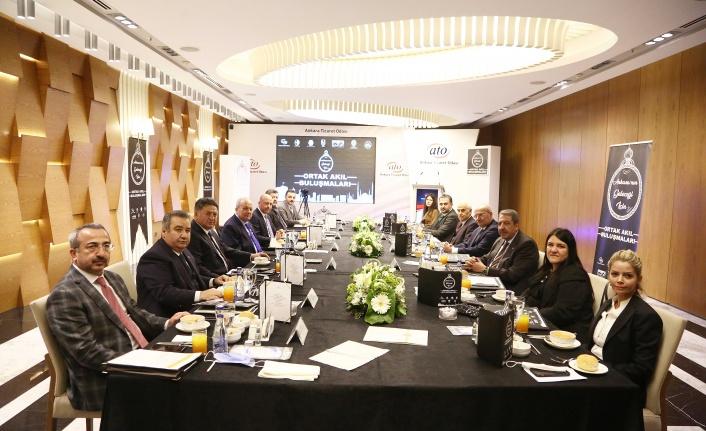 Ankara'nın Geleceği için Ortak Akıl Buluşması ATO'da Yapıldı