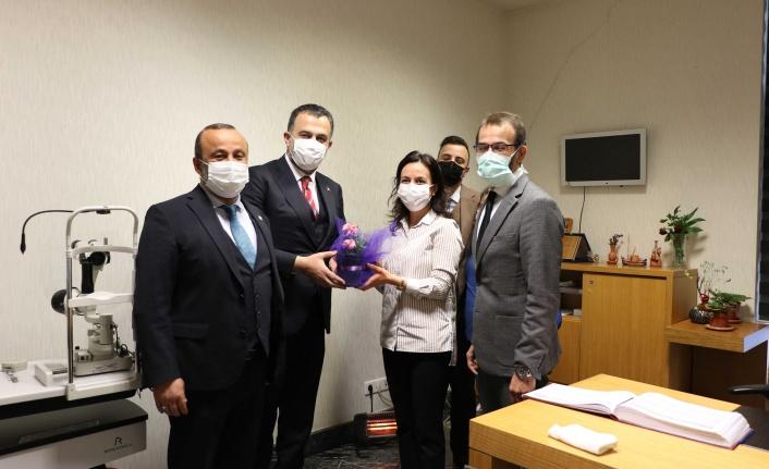 ATO'dan, Tıp Bayramı'nda Sağlık Çalışanlarına Ziyaret