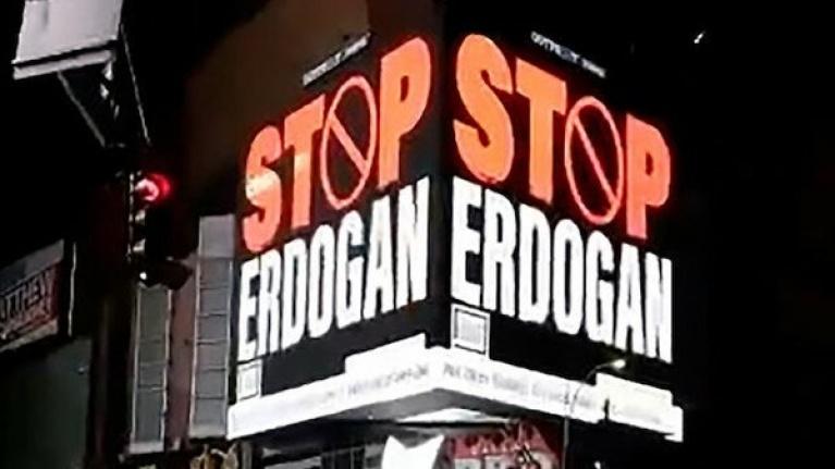 FETÖ'cülerden Alçak Hareket: 'Stop Erdoğan' Reklamı