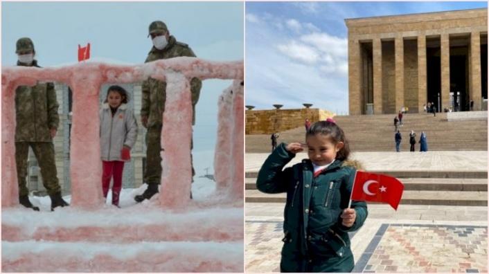 Kardan Anıtkabir Yapan Küçük Hira'nın Hayali Gerçek Oldu