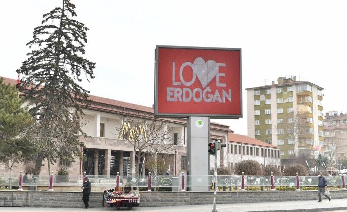 Mamak'tan 'Stop Erdoğan'a Love Erdoğan Yanıtı