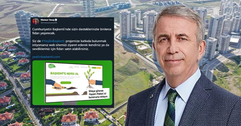 Mansur Yavaş'tan Yeşilin Başkenti Projesi için Çağrı