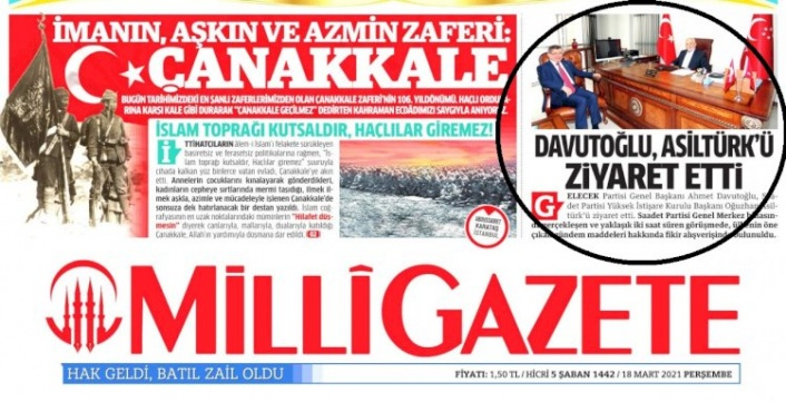 Milli Gazete'den Saadet Partisi Lideri Karamollaoğlu'na Sansür!
