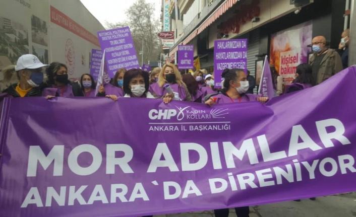 CHP Ankara Kadın Kolları Başkanlığı'ndan İstanbul Sözleşmesi Yürüyüşü