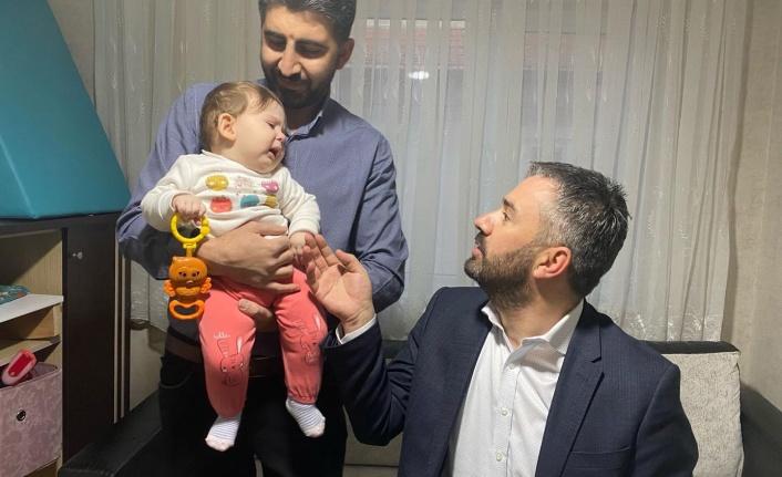Ertuğrul Çetin SMA Hastası Bedia Bebeğe Misafir Oldu