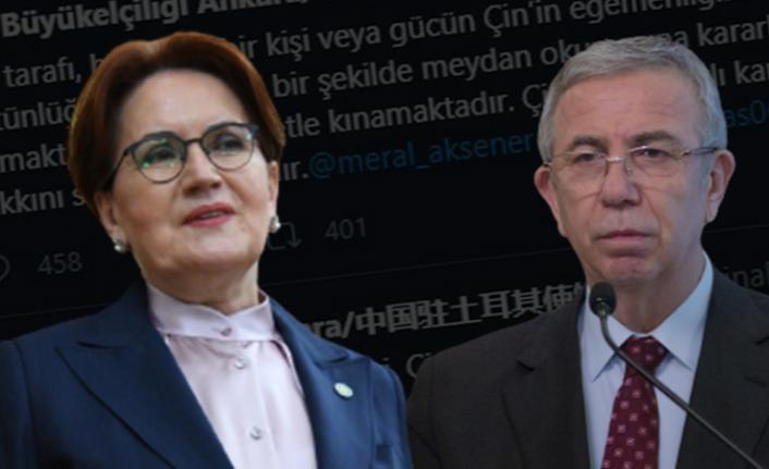 Meral Akşener ve Mansur Yavaş'ın Çin Tweetlerine Tepki