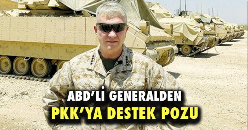 ABD'li Generalden PKK Terör Örgütüne Destek Pozu