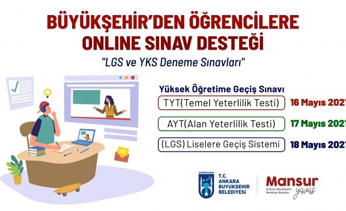 Ankara Büyükşehir'den Öğrencilere 'Online Sınav' Desteği