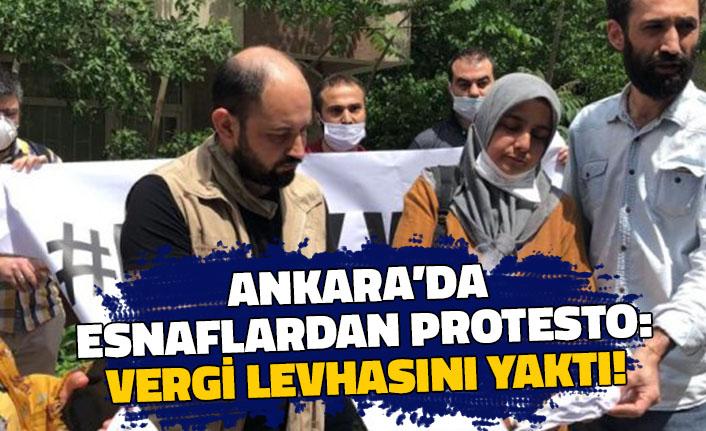 Ankara Esnafından 'Koronavirüs' Protestosu: Vergi Levhalarını Yaktı!