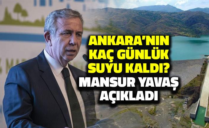 Ankara'nın Kaç Günlük Suyu Kaldı? Başkan Mansur Yavaş Açıkladı