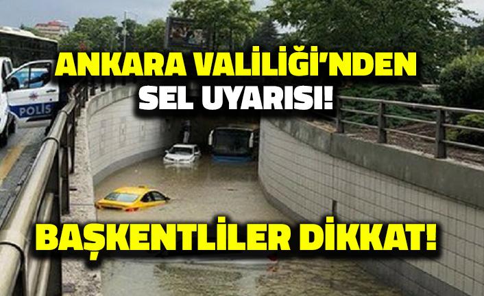 Ankara Valiliği'nden Sel Uyarısı: Başkentliler Dikkat!
