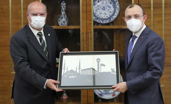 ATO Başkanı Baran'dan Ticaret Bakanı Mehmet Muş'a ziyaret
