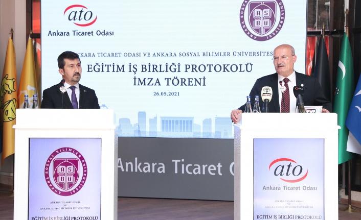 ATO ve Ankara Sosyal Bilimler Üniversitesi İş Birliği Protokolü İmzaladı