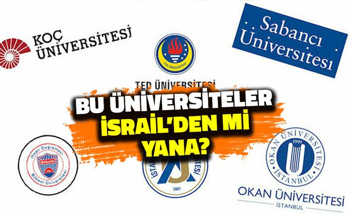 Bu Üniversiteler İsrail'den mi Yana? Filistin Bildirisini İmzalamadılar!