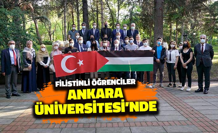 Filistinli Öğrenciler Ankara Üniversitesi'nde: Rektör Necdet Ünüvar Karşıladı