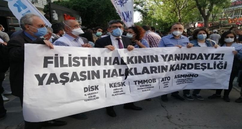 İsrail'in Hain Saldırıları Ankara'da Protesto Edildi