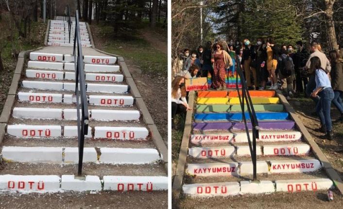 ODTÜ'de 'Merdiven Boyama' Soruşturması