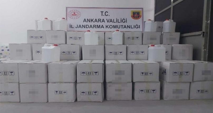 Sağlık Bakanlığı Onayı Olmayan 2 Bin 500 Adet Dezenfektan Ele Geçirildi