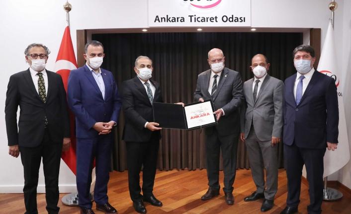 SGK Heyeti ATO Başkanı Gürsel Baran'ı Ziyaret Etti
