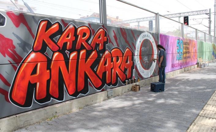 Sincan'da Başkente Yakışır Grafiti Çalışması