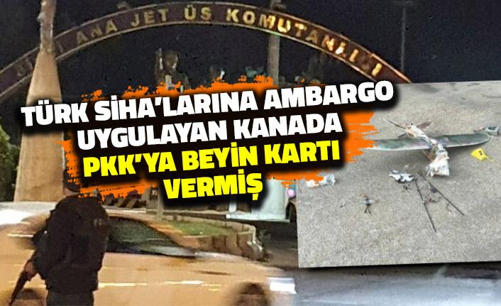 Türk SİHA'larına Ambargo Uygulayan Kanada PKK'ya Beyin Kartı Vermiş!