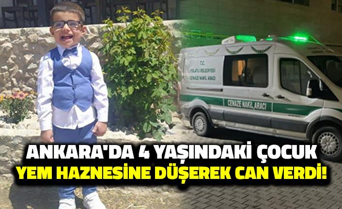 Ankara'da 4 Yaşındaki Çocuk Yem Haznesine Düşerek Can Verdi!