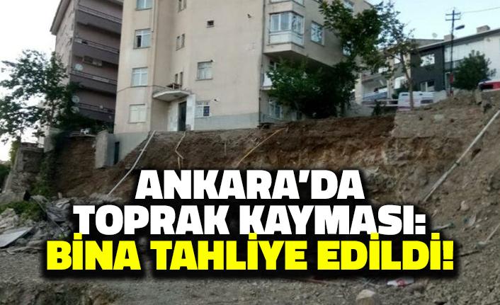 Ankara'da Toprak Kayması: Bina Tahliye Edildi!