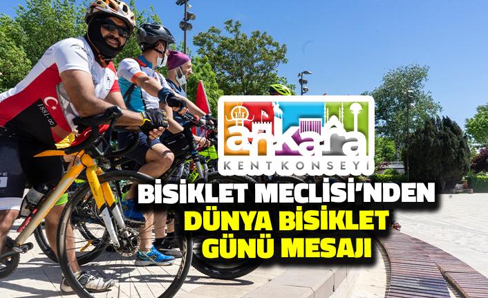 Ankara Kent Konseyi Bisiklet Meclisi'nden Dünya Bisiklet Günü Mesajı
