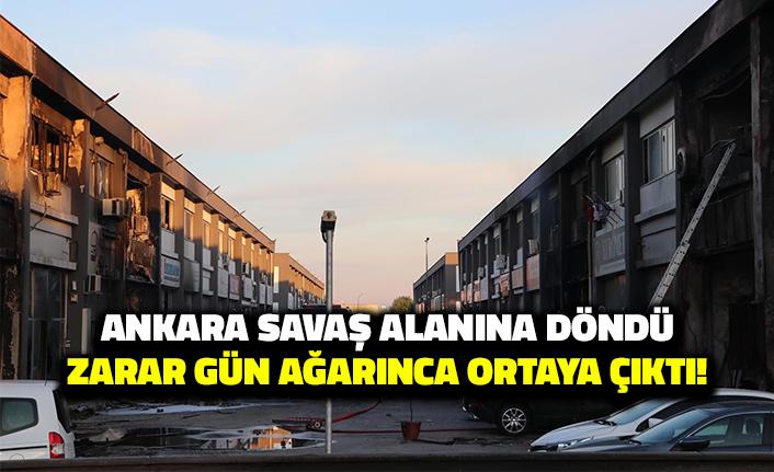 Ankara Savaş Alanına Döndü: Zarar Gün Ağarınca Ortaya Çıktı!