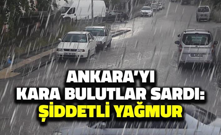 Ankara'yı Kara Bulutlar Sardı: Şiddetli Yağmur