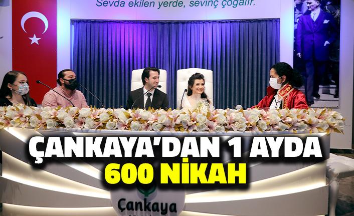 Çankaya'dan Bir Ayda 600 Nikah