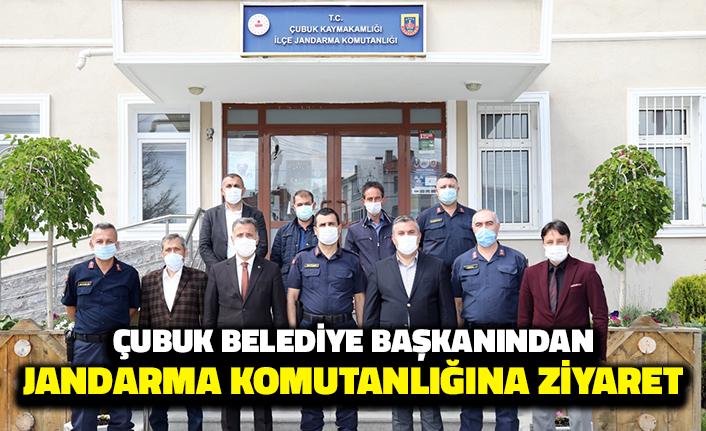 Çubuk Belediye Başkanından Jandarma Komutanlığına Ziyaret