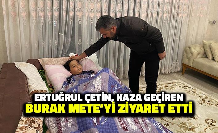Pursaklar Belediye Başkanı, Trafik Kazası Geçiren Burak Mete'yi Ziyaret Etti