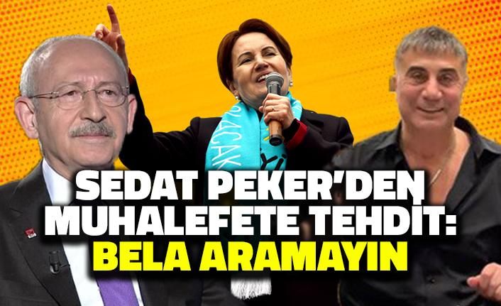 Sedat Peker'den Muhalefete Tehdit: Bela Aramayın!
