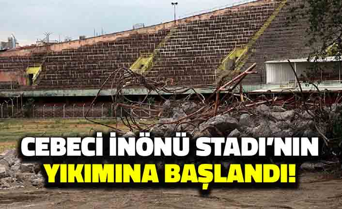 Cebeci İnönü Stadı'nın Yıkımına Başlandı